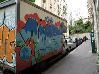 photo graffiti vehicule